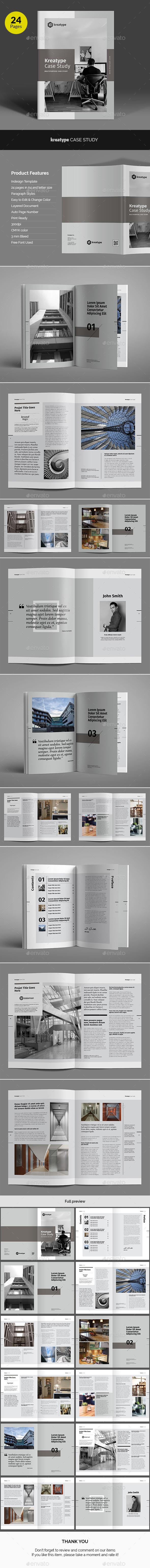 Kreatype Case Study | Brochure template, Brochures and Template