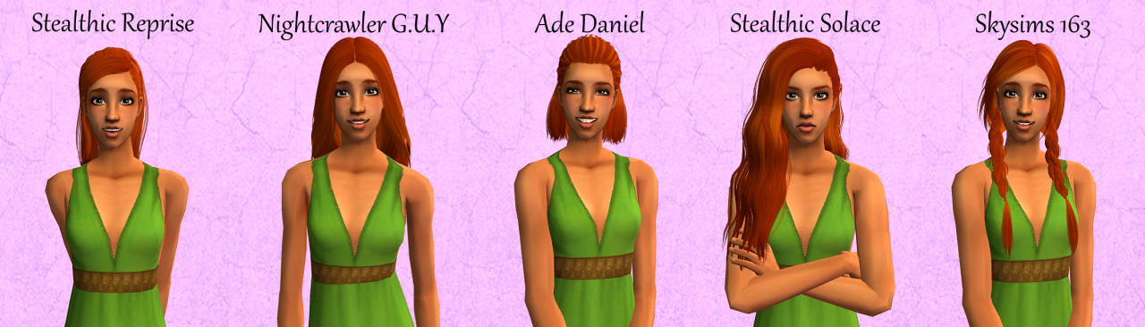 ~*~*~*~ (10 assorted hairs Simgarooped! Just some random...)