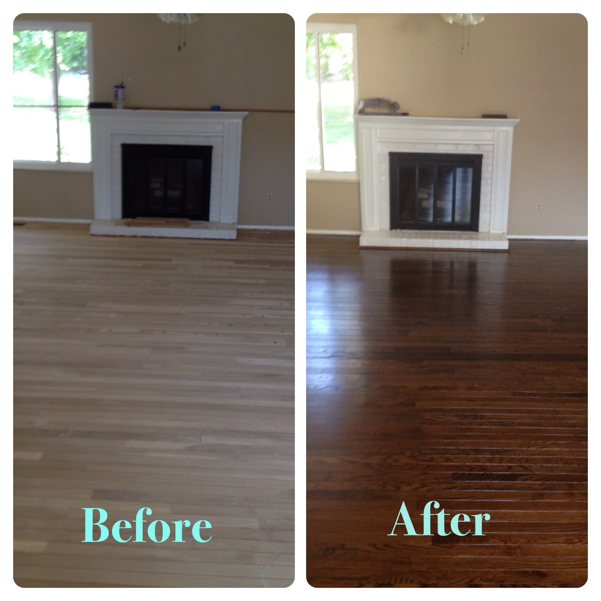 Dark Chocolate Stained Hardwood Floors Staining