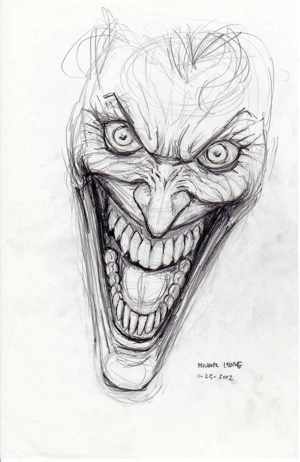 Joker Scribble Drawing : Pin the joker cartoon drawing tattoo on pinterest dc