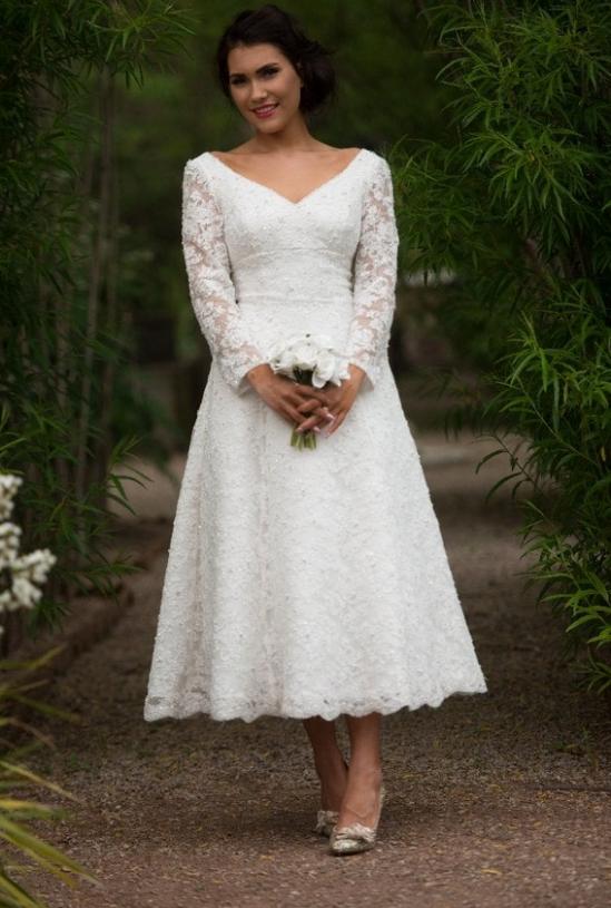Short Wedding Dress Older Bride Model pakaian, Pakaian