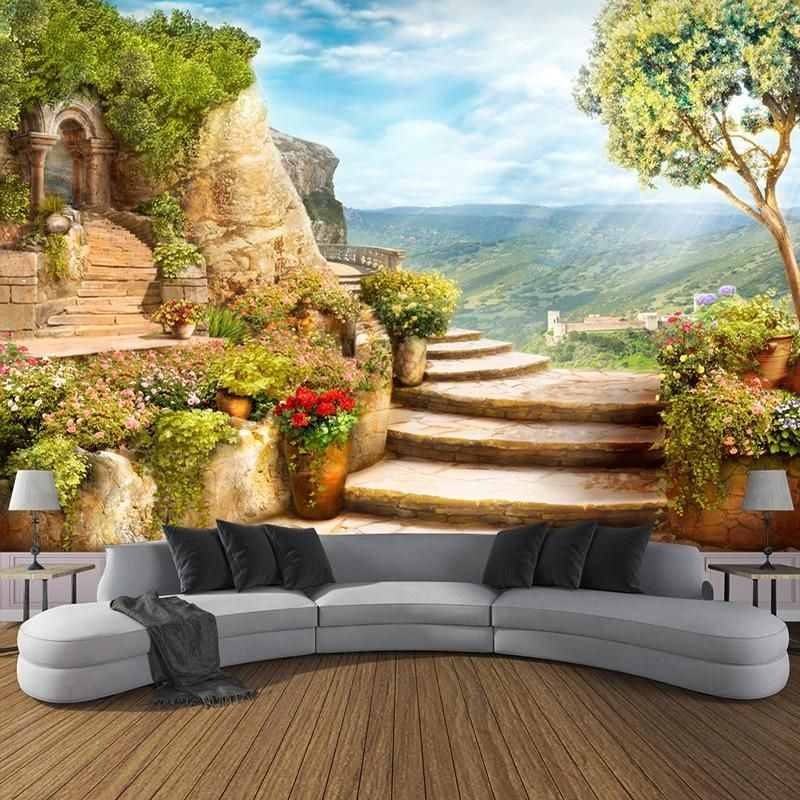 Avikalp 3d Photo Wallpaper European Garden Nature Landscape Large Murals Bedroom Living Room 3d Wallpaper Living Room 3d Wallpaper For Walls European Garden