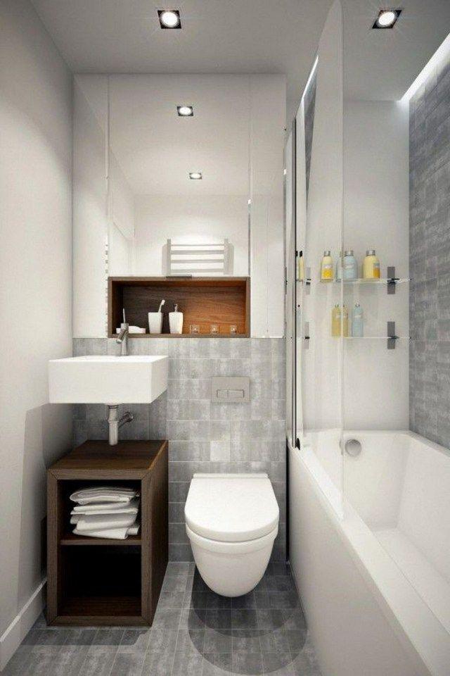 35 Awesome And Simple Bathroom Designs For Small Spaces Bathroom Bathroomideas Bat Salle De Bain 4m2 Salle De Bains Moderne Petites Salles De Bains Modernes
