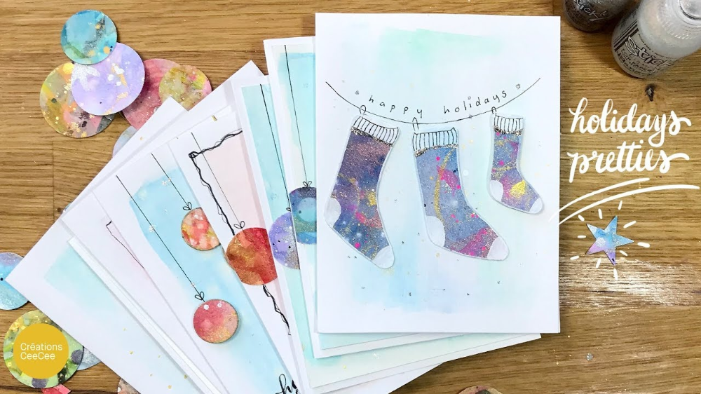 watercolor winter cards cee cee Google Search