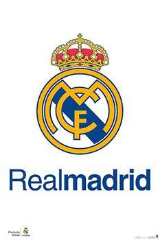 Real Madrid Cf Official La Liga Team Crest Logo Poster G E Spain Real Madrid Team Real Madrid Basketball Real Madrid