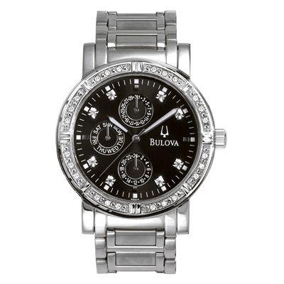 Men's Bulova Chronograph Stainless Steel Bracelet Watch with