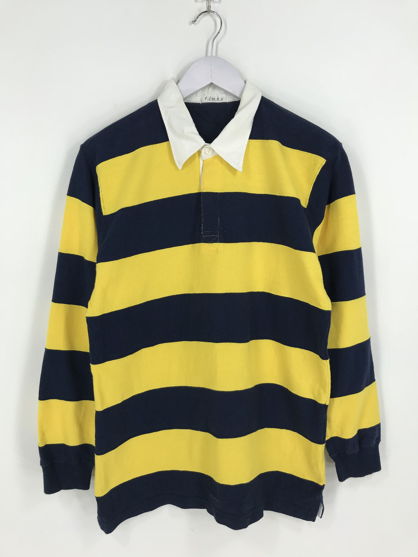 Vintage Colorblock Border Stripes Polo Shirt Mens Medium Etsy Striped Polo Shirt Rugby Shirt Mens Shirts [ 3000 x 2250 Pixel ]