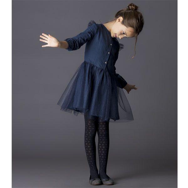 Robe bleu marine petite fille