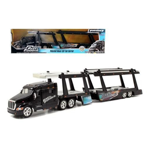 "Peterbilt 387 Car Carrier "" Fast & Furious"" 1/64 By Jada"