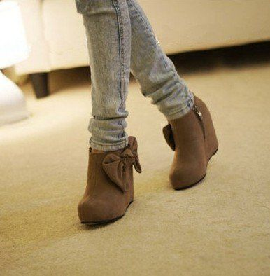Ankle Boots with bow | Fo yo feets! | Pinterest | Ankle boots ...