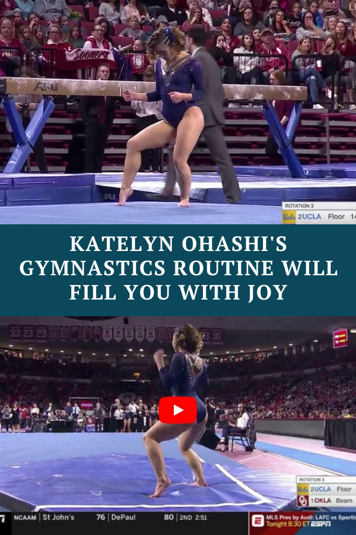 Gymnast steps on the mat, delivers routine that is now the most watched sports video of 2019