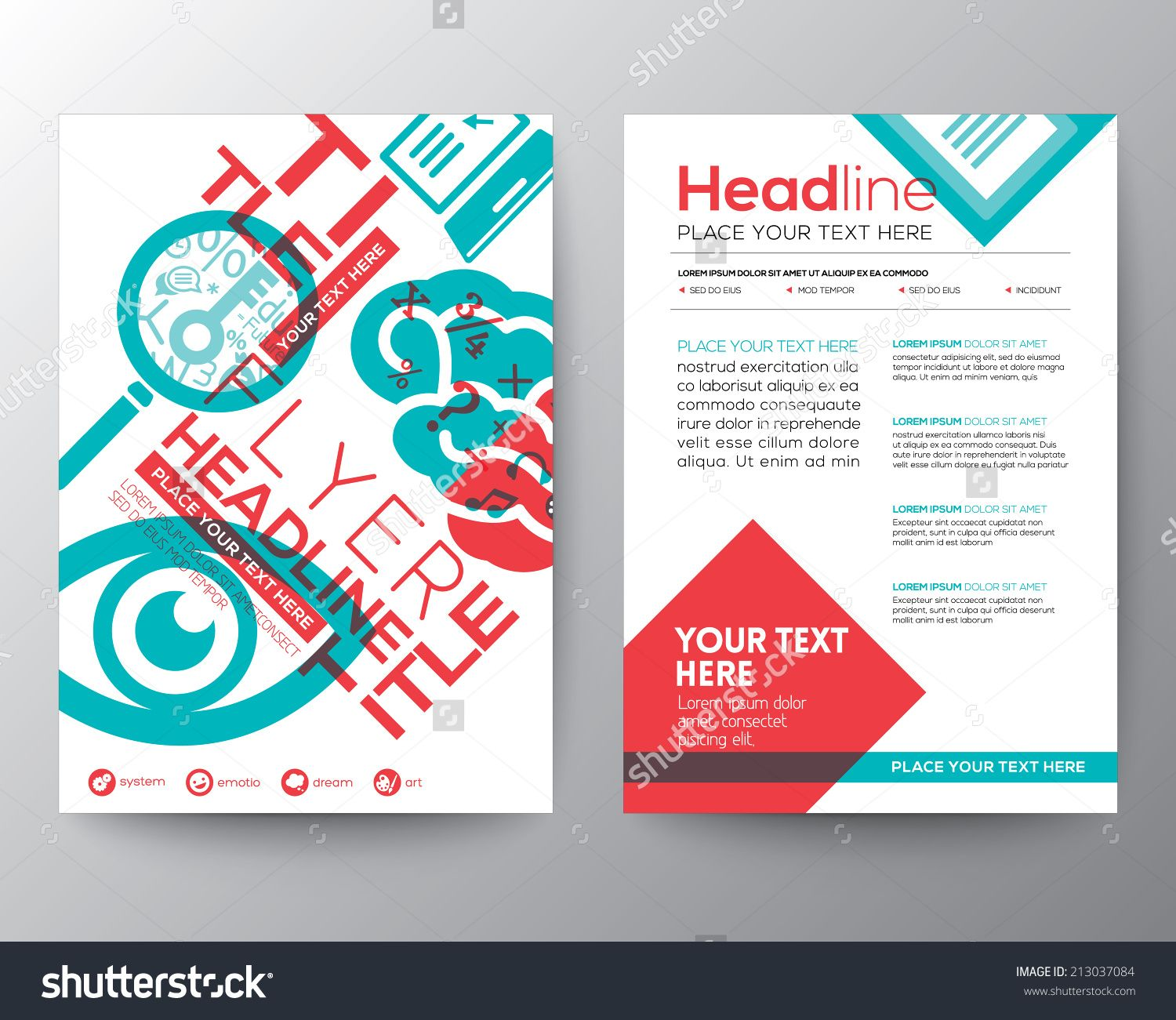 Wektor Education Brochure Flyer Design Layout Template In Size