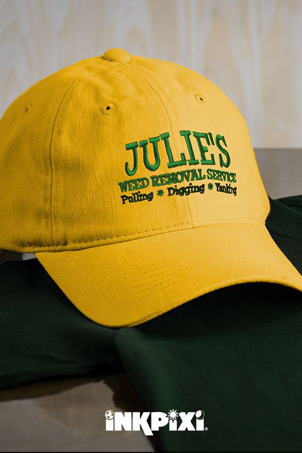 e25d08111df26 Personalized Weed Removal embroidered hats make the perfect gift. Keep the  sun out of your eyes while strolling through your garden in this custom cap.