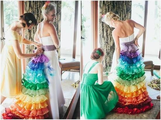 Rainbow Themed Beach Wedding in Costa Rica - Boho Weddings ...