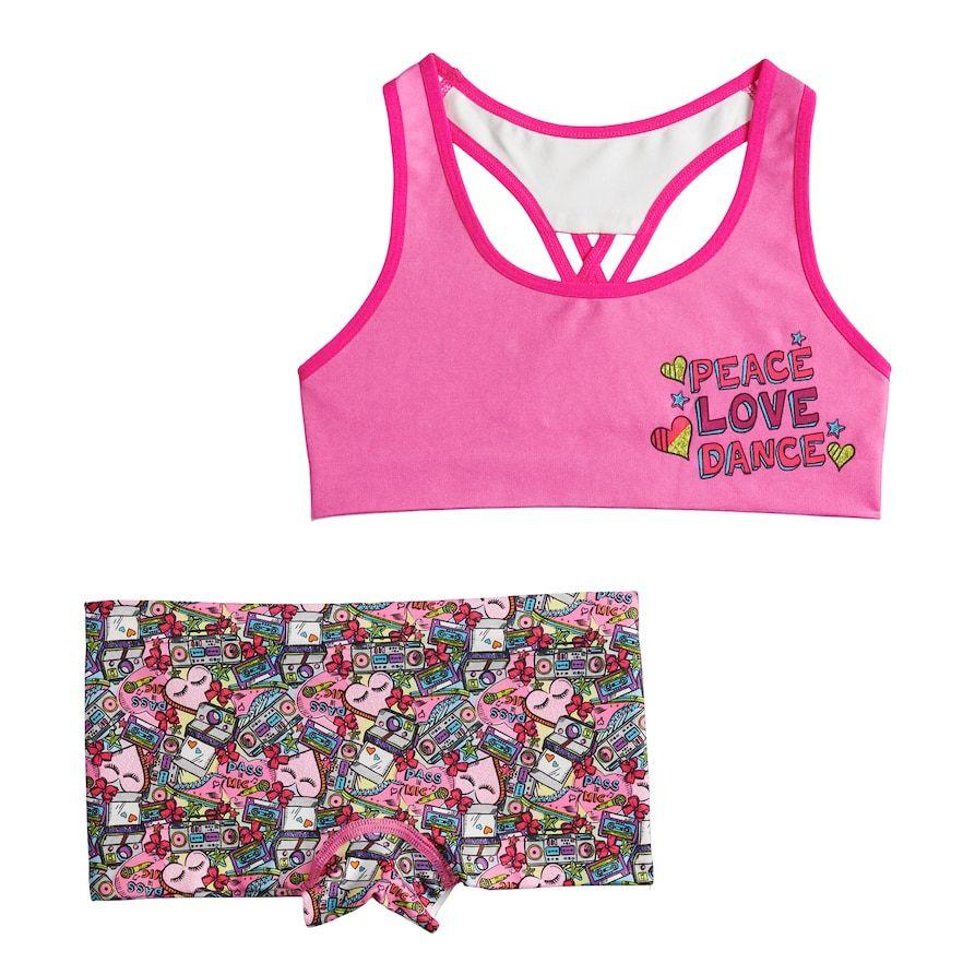 Girls 412 JoJo Siwa Seamless Bra & Boyshort Panty Set