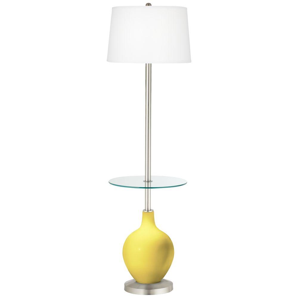 Lemon Twist Ovo Tray Table Floor Lamp