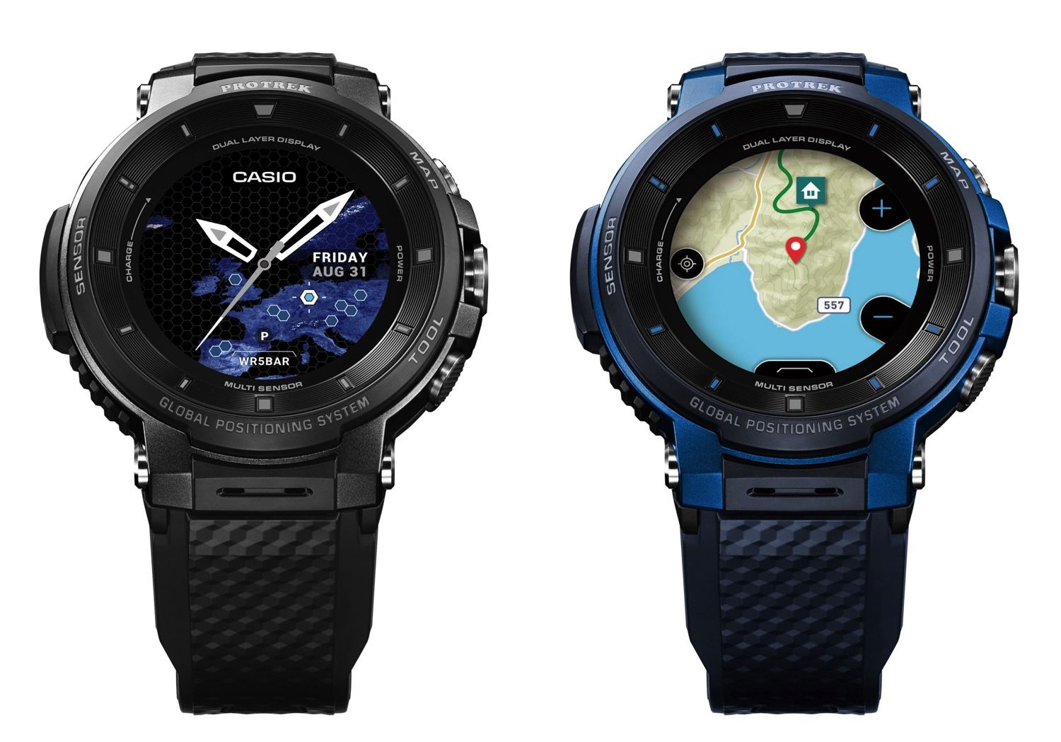 Casio's new smartwatch features offline color maps and GPS