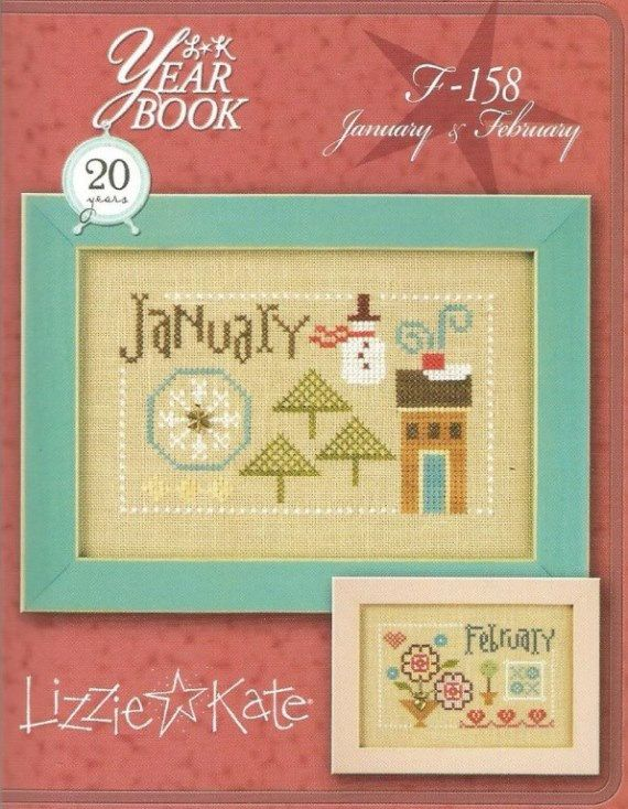 LIZZIE KATE January & February Double Flip  by NeedleCaseGoodies