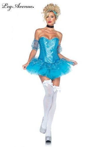 ea4083f665db LEG AVENUE Principessa Costume da Sexy Cenerentola Corsetto in Paillettes +  Sottogonna + Accessori
