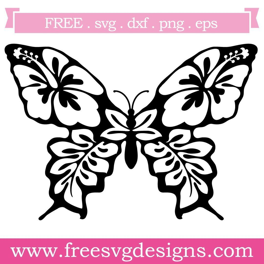 Free Svg Files Svg Png Dxf Eps Floral Butterfly Silhouette Butterfly Clip Art Butterflies Svg Butterfly Stencil