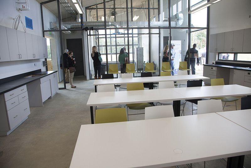 Field lab classroom interior eden hall campus chatham university pittsburgh pa