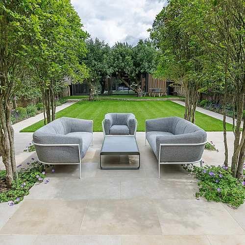 Elegant family garden- Beautiful contempora #terracegardendesign