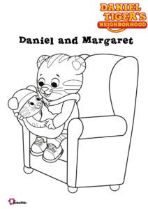 Daniel And Baby Margaret Coloring Page Daniel Tiger S Neighborhood Tv Serials In 2020 Daniel Tiger Daniel Tiger Birthday Party Daniel Tiger Birthday
