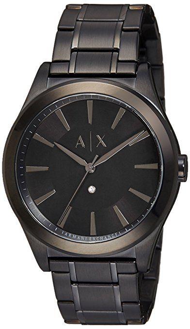 Descubre Armani Exchange De los hombres negro reloj. Envío gratis en  pedidos de un importe mínimo de 9ae1218b6bef