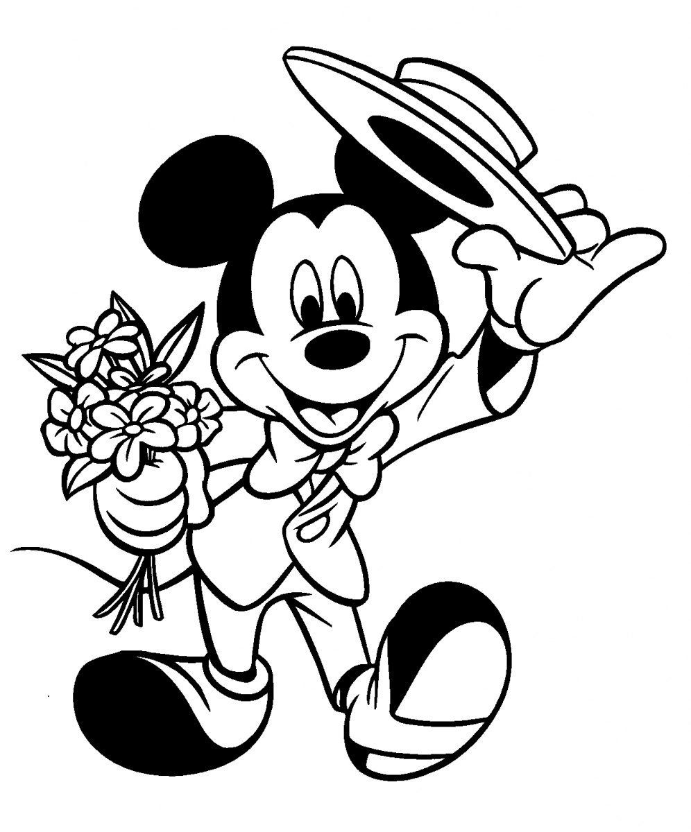 Mickey Mouse Coloring Pages Disney Coloring Pages Valentine Coloring Pages