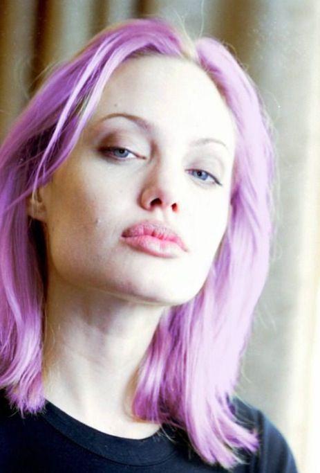 Angelina Jolie Pink Purple Hair Angelina Jolie Photos Angelina Jolie Angelina Jolie Style