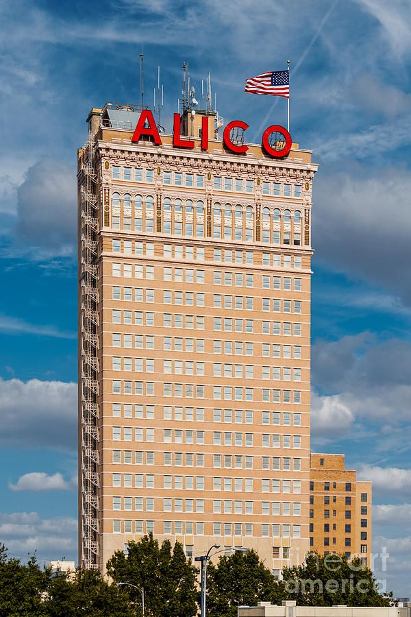 Amicable Life Insurance Company Building In Downtown Waco Texas By