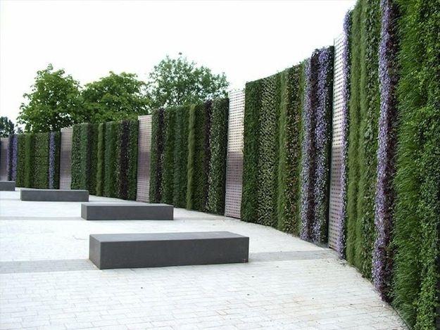39 Insanely Cool Vertical Gardens Jardín vertical, Jardín y Vivir - jardineras verticales