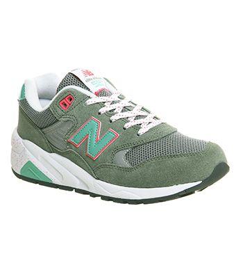 New Balance 580 (w) Khaki Green Pink
