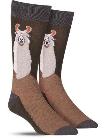Llama Awesome Animal Socks for Men