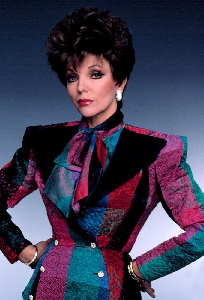 joan collins ic ne de mode des ann es 80 my icons pinterest joan collins mode des. Black Bedroom Furniture Sets. Home Design Ideas