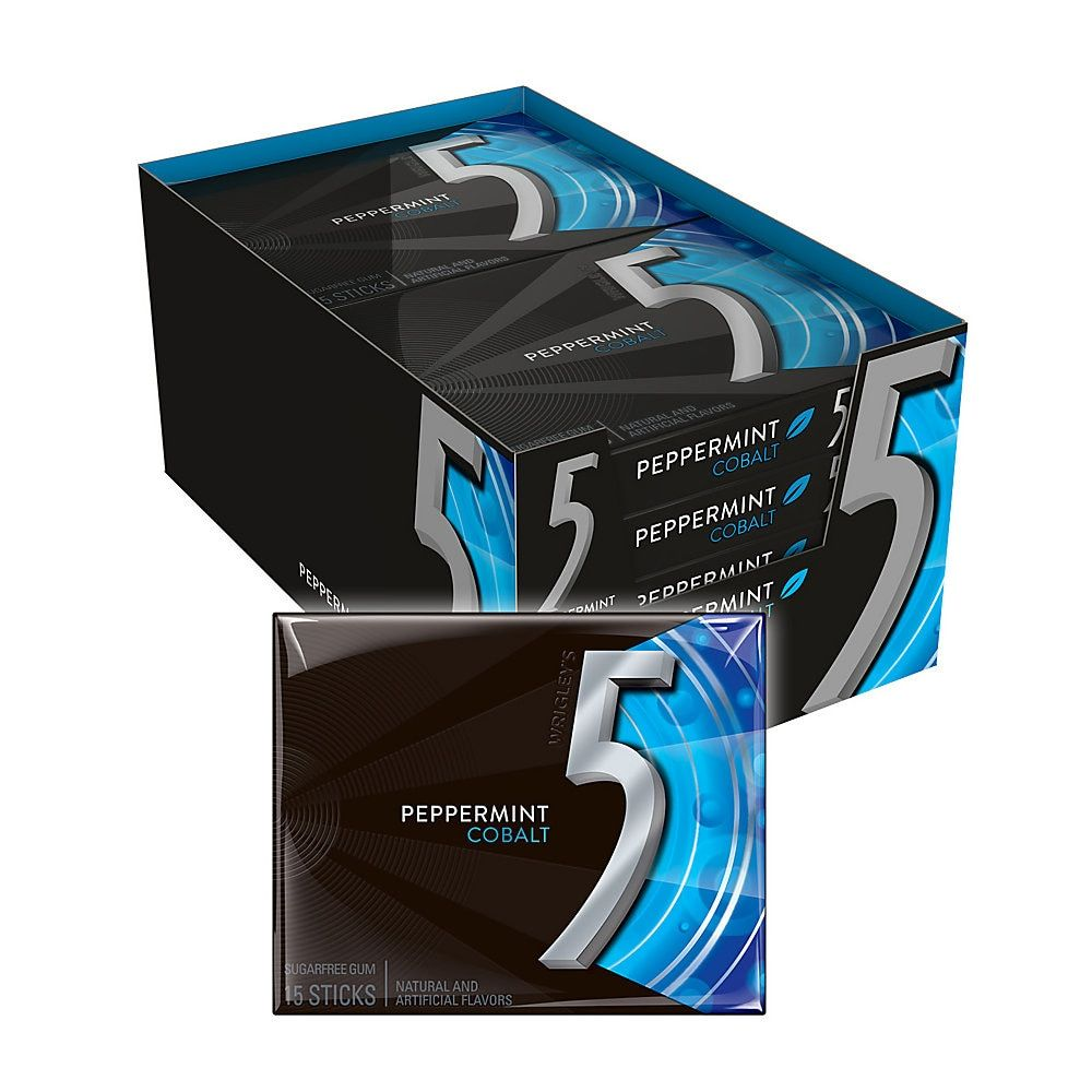 Wrigley S Cobalt Chewing Gum Peppermint 1 45 Oz Box Of 10
