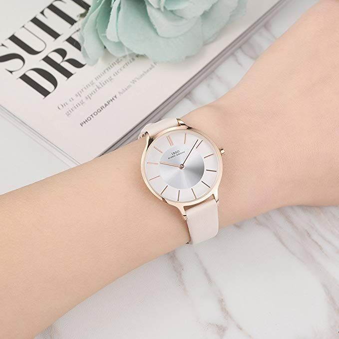 eab18fe2c Amazon.com: IBSO Women Fashion Simple Watch Ultra-Thin Retro Quartz Analog  Leather