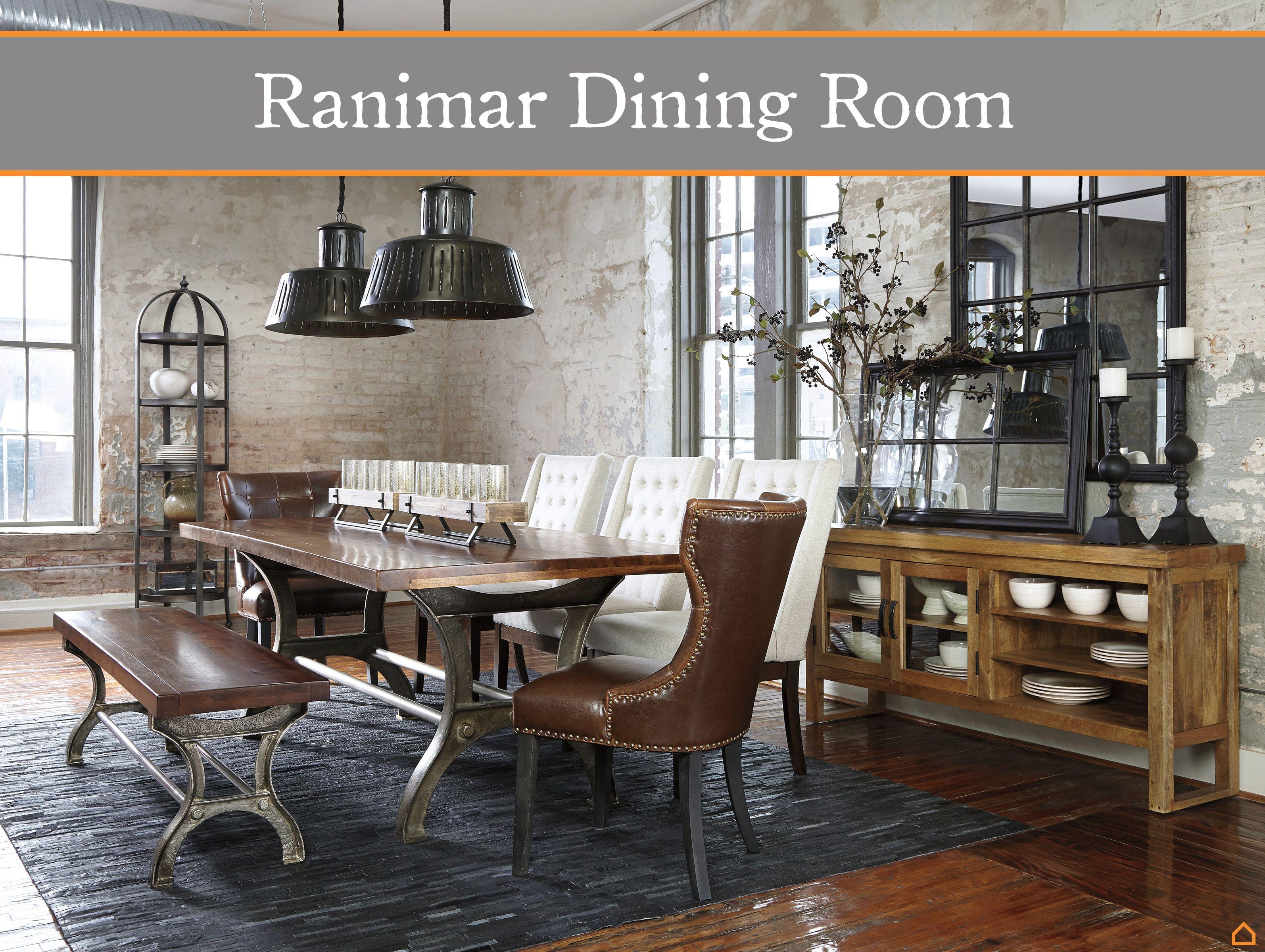 Loving This Shot Of The Ashley HomeStore Ranimar Dining Room