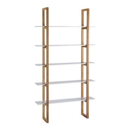 habitat loki 5 shelf bookcase white home 5 shelf. Black Bedroom Furniture Sets. Home Design Ideas