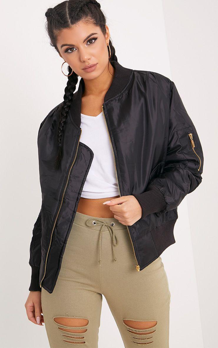 Alexus Black Bomber Jacket Black Bomber Jacket Bomber Jacket Women Bomber Jacket Outfit [ 1180 x 740 Pixel ]