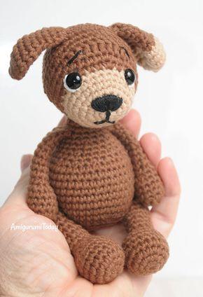 Amigurumi Timmy der Hund - Gratis Häkelanleitung | kleiner Teddy ...