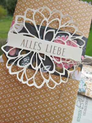Kreativ Blog by Claudi: Alles Liebe - Blume mit Steg