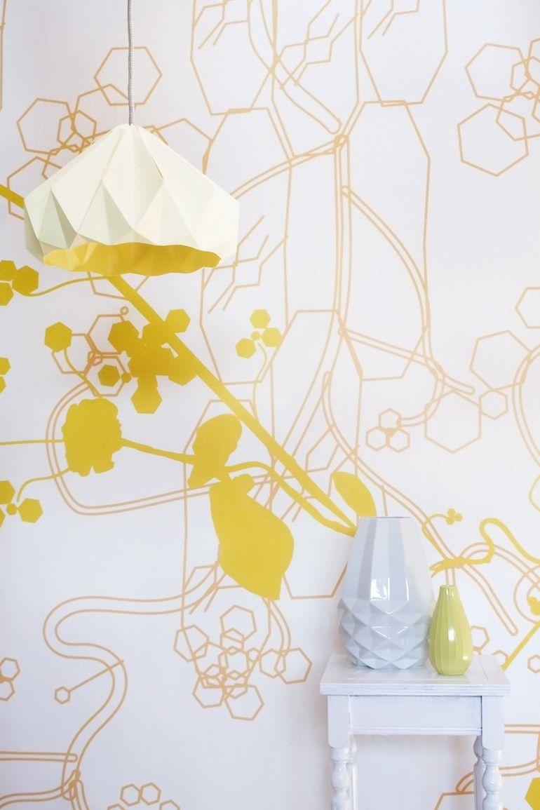 Wallpaper BLOOMING FOREST - Studio @lilesadi #yellow | Walls ...