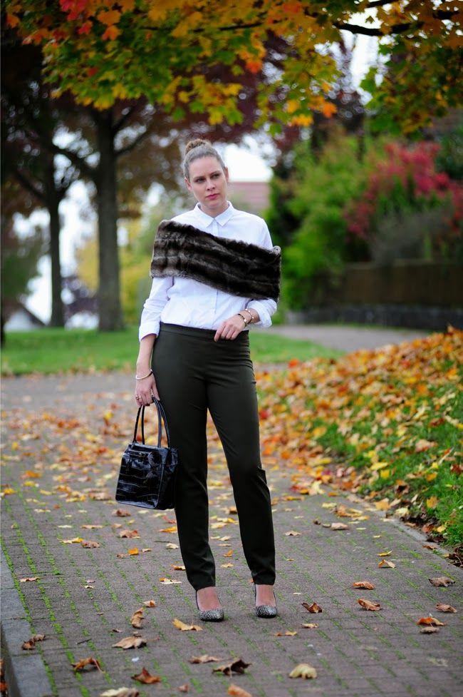 .: Business Fur :. #DIY #shrug #pants
