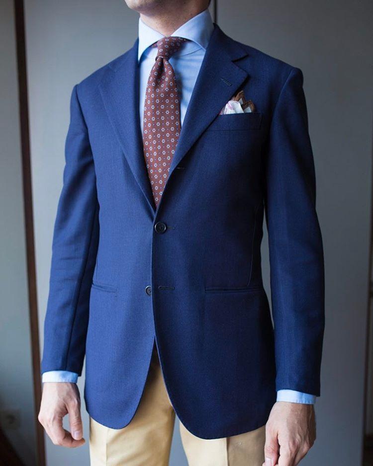 4f24039eec4d No reason to have a casual Friday - sport coat by @liverano_liverano  @ambrosinapoli tan cotton trousers @calabrese1924 tie @jeanmanuelmoreau X  ...