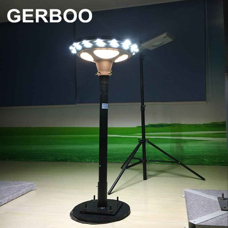 Outdoor Light Stand Best 2016 New Ufo 15W All In One Solar Sun Street Light 1650Lm Integrated Design Decoration