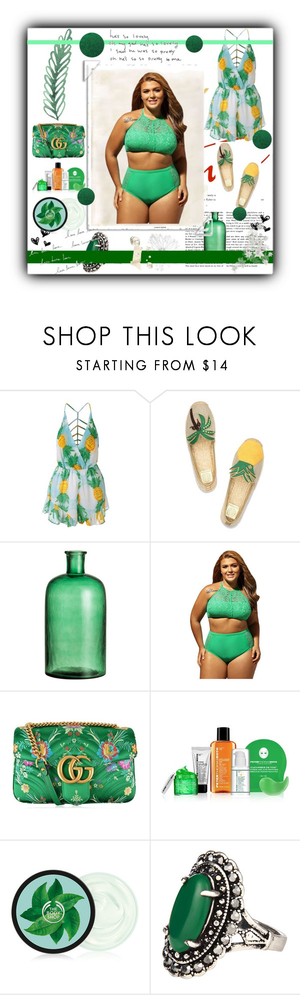 """""""Summer Vibes"""" by alongcametwiggy ❤ liked on Polyvore featuring Tory Burch, Gucci and Peter Thomas Roth"""