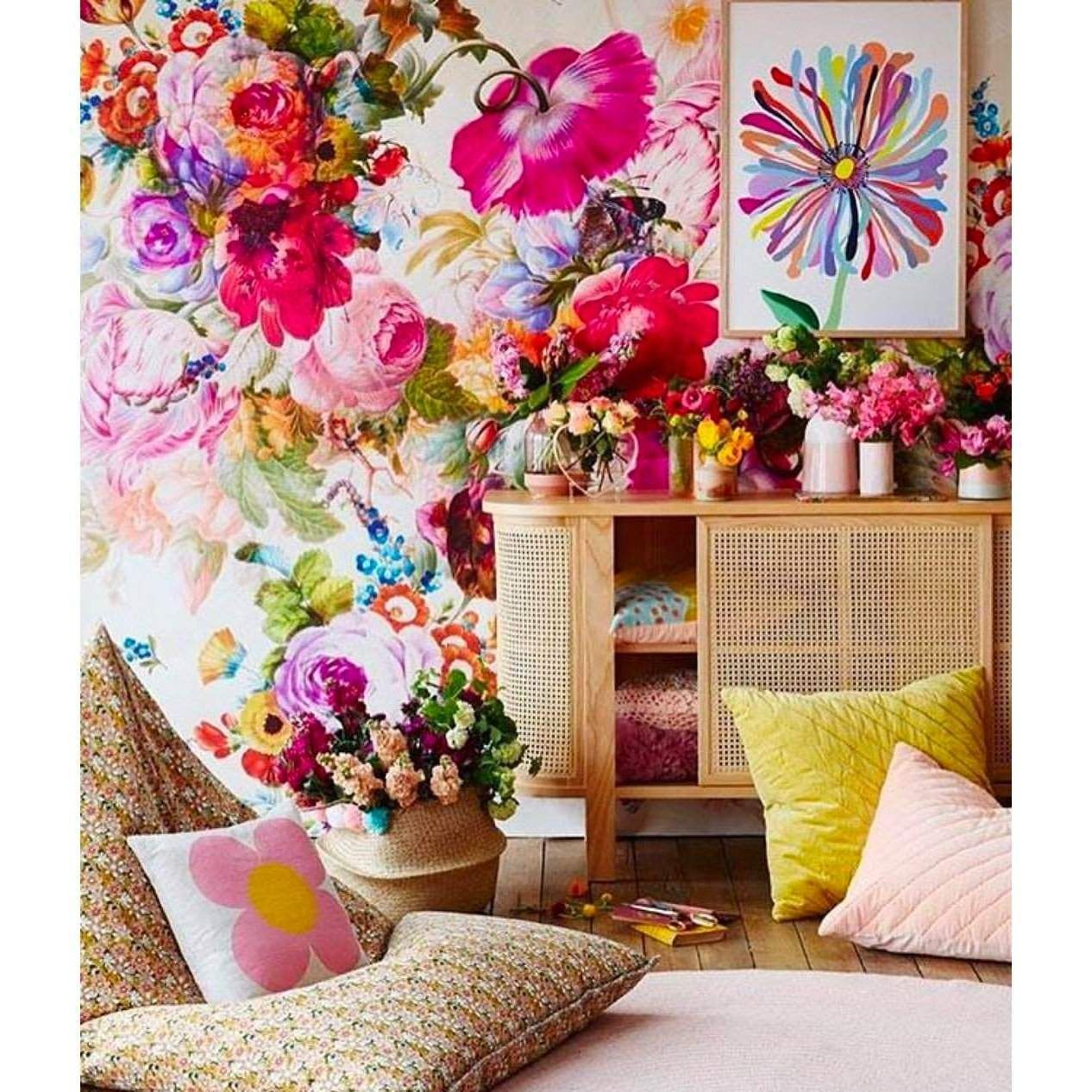 Bloom Boom in 2020 Large floral wallpaper, Wall design