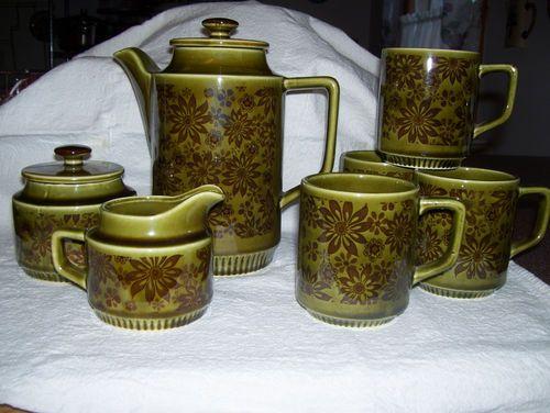 retro floral Japan coffee set