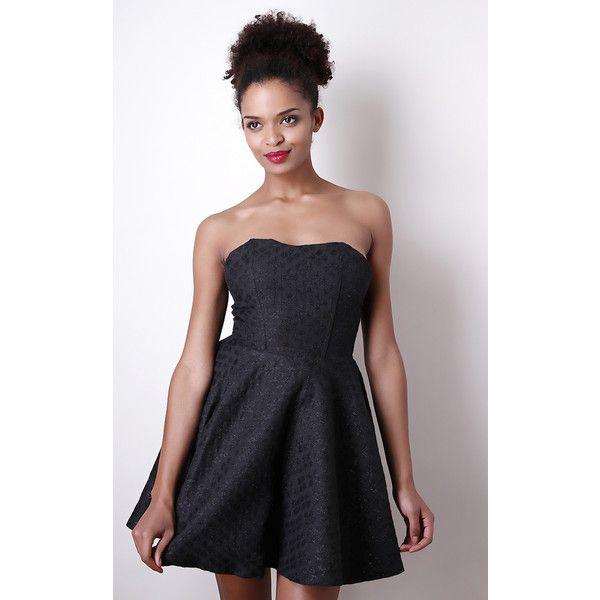 Liquorish Black Jacquard Prom Dress ($55) ❤ liked on Polyvore ...